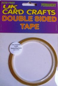 5 X 3mm Wide x 5 Meters Long Polyester Double Sided Tape - UKCC0038
